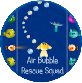Air Bubble Rescue Squad Android Game Promo Image